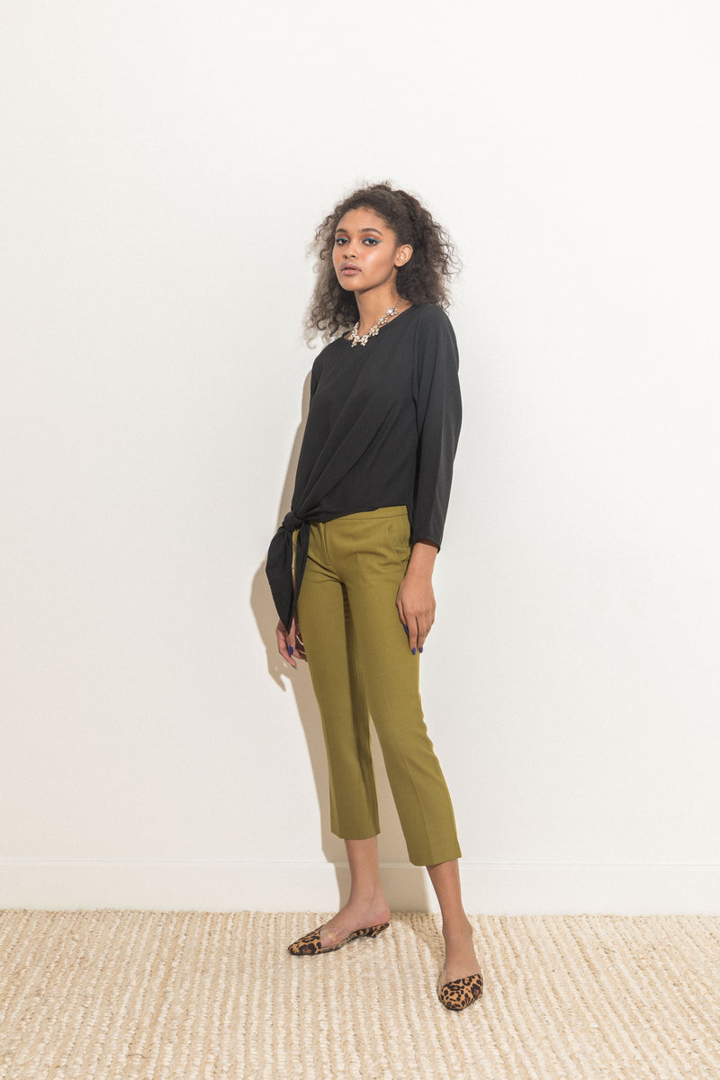 Long-sleeved Asymmetrical Top