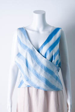 Silk wrap-effect top
