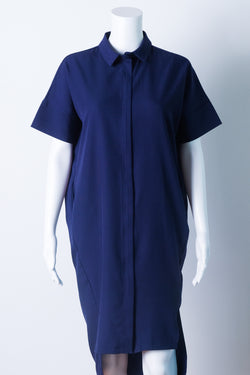 shirtdress in navy blue
