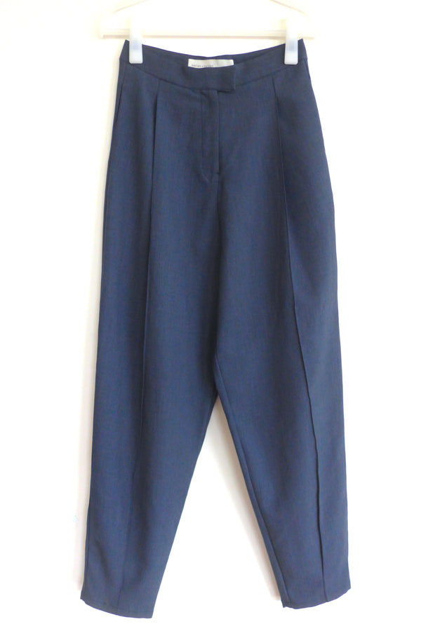 harem pants with pleating in front