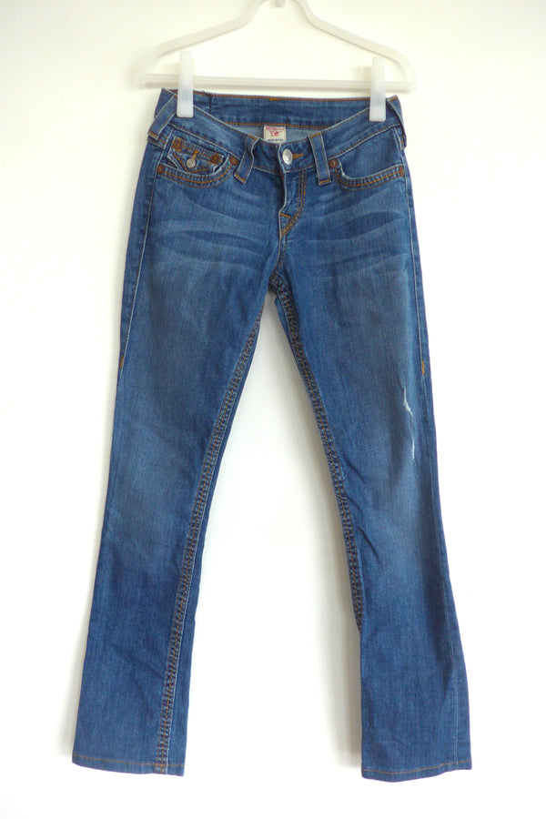 straight leg jeans in medium wash