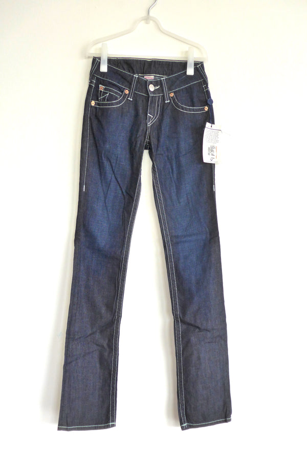 Straight-leg jeans in dark wash
