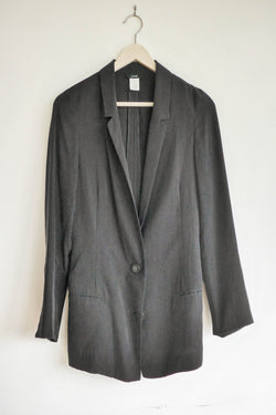 Lightweight blazer in black silk