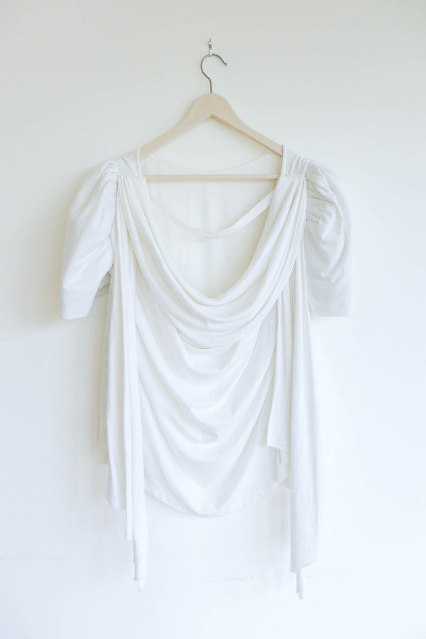 White T-shirt with Terno Sleeves