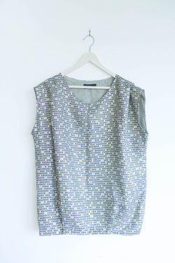 Metallic Top with Gathering at Shoulders