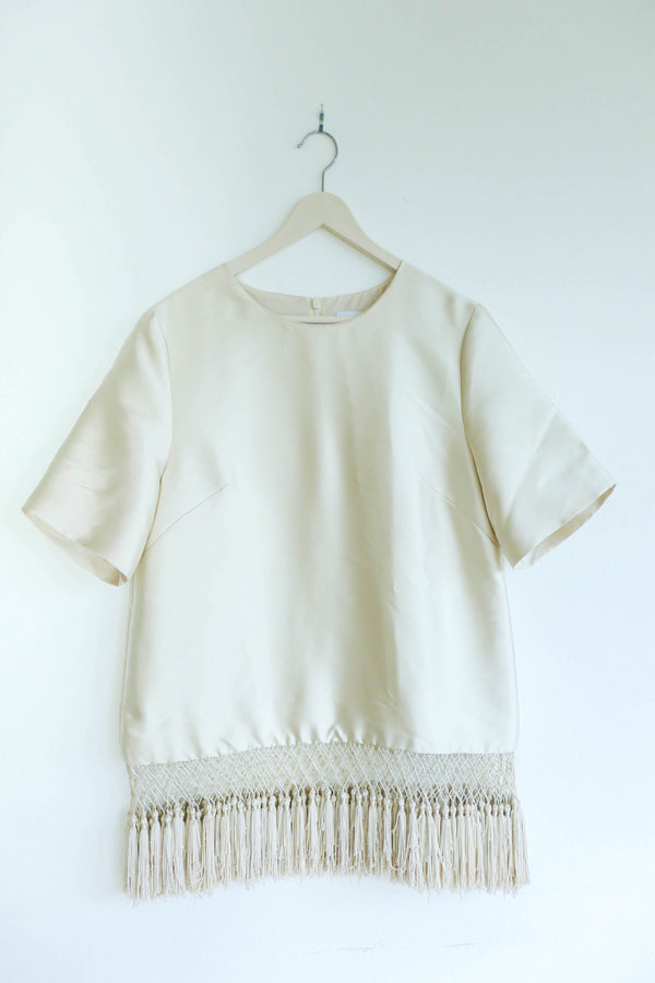 Structured Top with Tassels