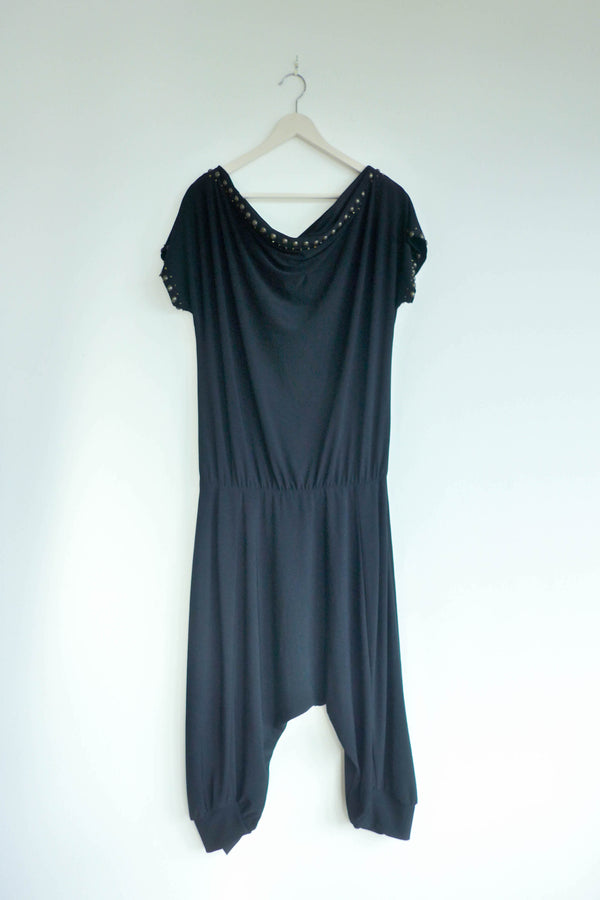 Oversized Romper with Embellishments