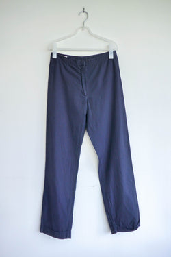 Mid-rise Straight Leg Pants with Cuffed Hem
