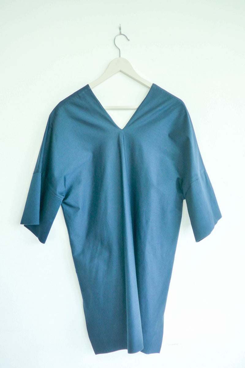 Dark Blue Top with Half Sleeves