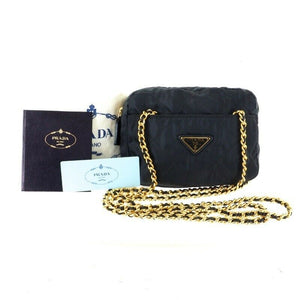 Prada Mini Chain Quilted Nylon Bag
