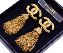 Load image into Gallery viewer, Chanel Vintage CC tassel earrings
