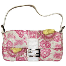 Load image into Gallery viewer, Fendi White Snakeskin Baguette