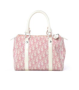 Dior Pink Trotter Boston Bag