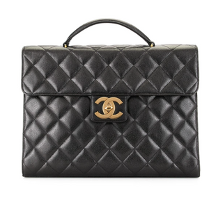 Chanel Diamond Quilted Briefcase