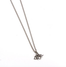 Load image into Gallery viewer, Dior Silver Logo Charm Necklace