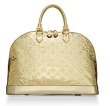 Load image into Gallery viewer, Louis Vuitton Limited Edition Gold Mirror Monogram Alma GM