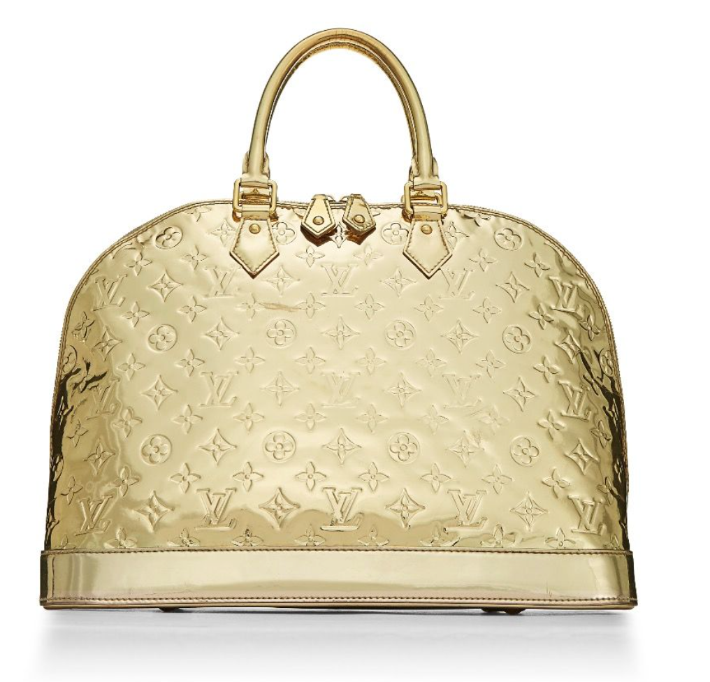 Louis Vuitton Limited Edition Gold Mirror Monogram Alma GM