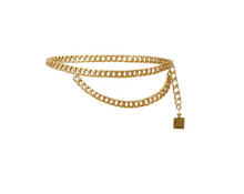 Load image into Gallery viewer, Chanel Coco Mademoiselle Bottle Charm Gold Chain Belt