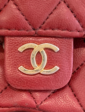 Load image into Gallery viewer, Chanel Lambskin Red Flap Belt Bag