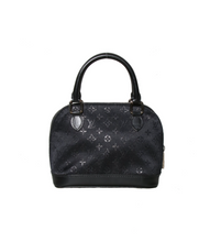 Load image into Gallery viewer, Louis Vuitton Black Satin Micro Alma