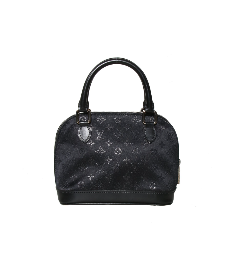 Louis Vuitton Black Satin Micro Alma