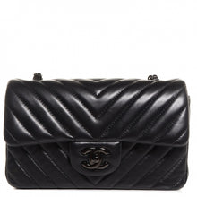 Load image into Gallery viewer, Chanel Lambskin Chevron Quilted 'So Black' Mini