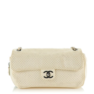 Chanel Perforated Baseball Spirit Flap Bag