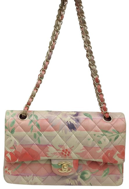 Chanel Quilted Floral Chain Shoulder Bag