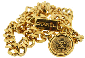 Vintage 90s Chanel Gold Chain Belt