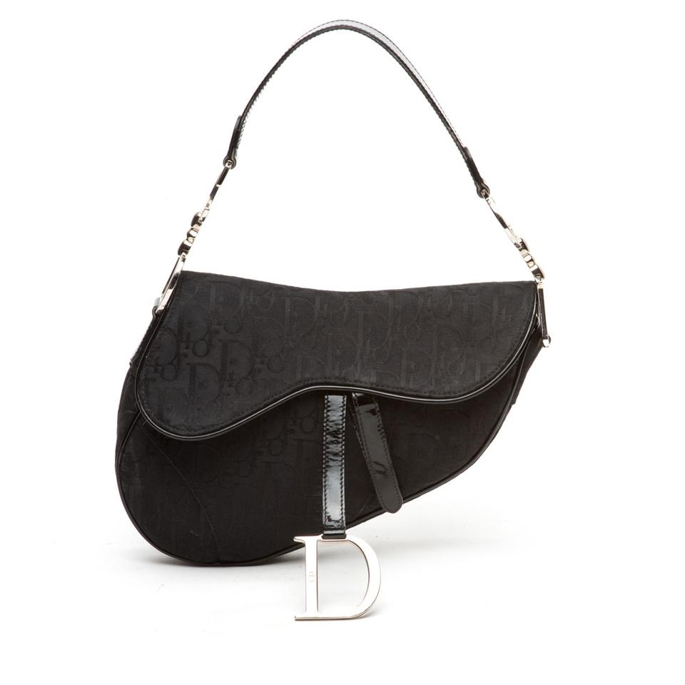Christian Dior Monogram Logo Saddle Bag