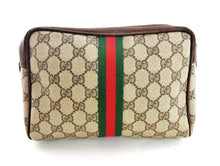 Load image into Gallery viewer, VINTAGE GUCCI BROWN 'GG' WEB POUCH