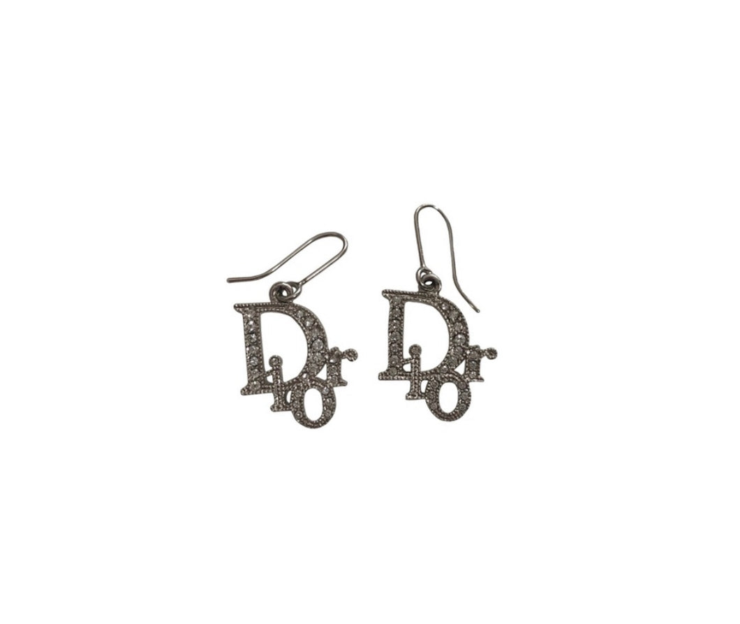 Dior Monogram Crystal Earrings