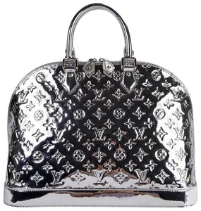 Louis Vuitton Limited Edition Silver Mirror Monogram Alma GM