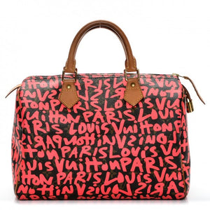 Louis Vuitton Pink Graffiti Speedy 30