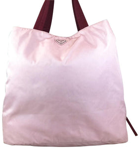 Prada XL Large Pink Nylon Tote Bag