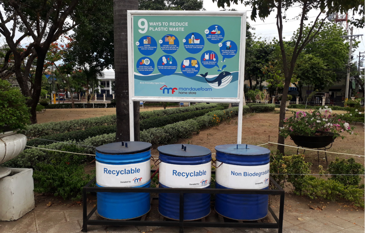 Garbage Bins For Plaza Independencia With Environmental Advocacy Board