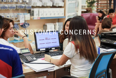 Customer Concerns