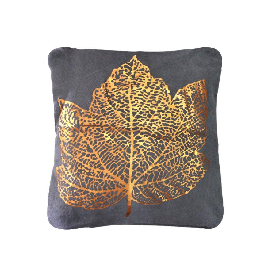 HA-0567-1Big leaf metallic prnt 43x43cm
