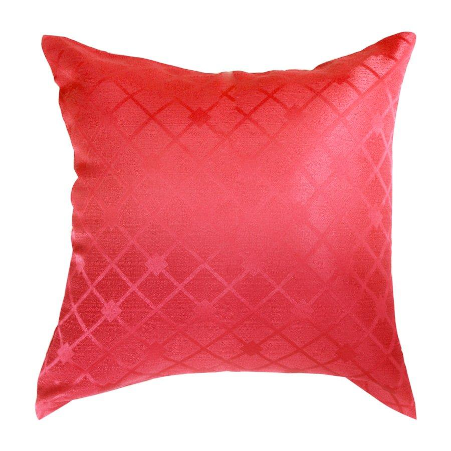 FB010 Red Classic Geometric Throw Pillow Case