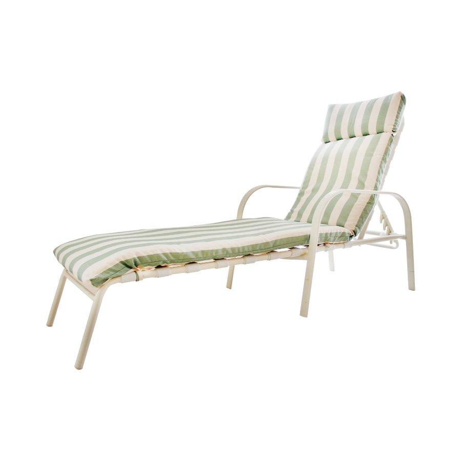 Rily Outdoor Lounger - Stripe Green