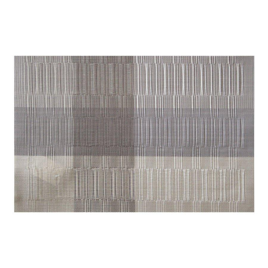 ST000113-3 Grey + White Bamboo Placemat 30x45