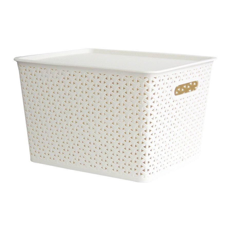 916089 Basket With Lid  - Beige