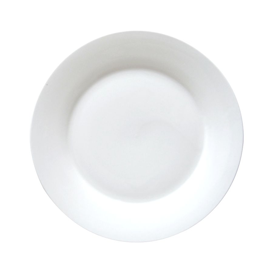 "10.5"" Flat Porcelain Dinner Plate"