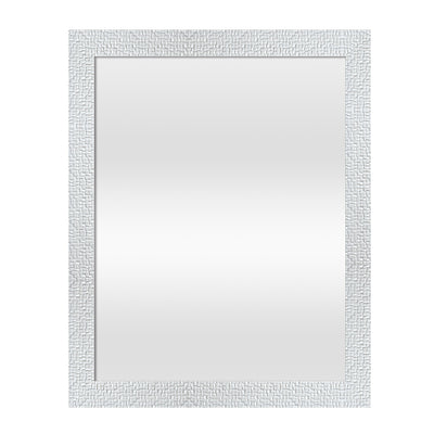 243 AD 1001 White Frame Mirror - Mandaue Foam