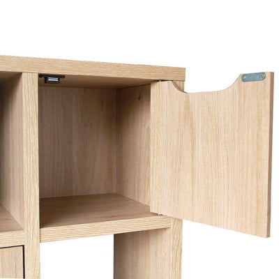 DV 8860-00 POLO 2 BOOKCASE - OAK 1