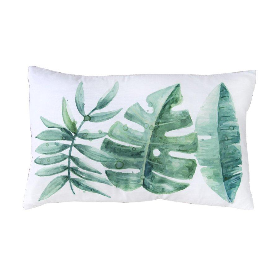 MSK748Grn tropical leaves pillows30x50cm