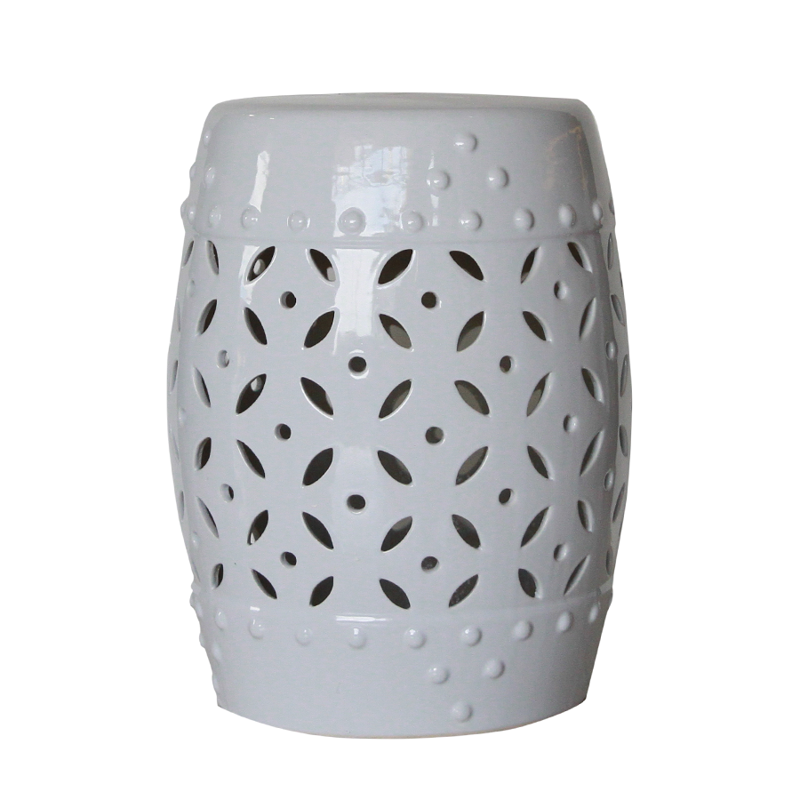 Baltimore Ceramic Stool White - Mandaue Foam