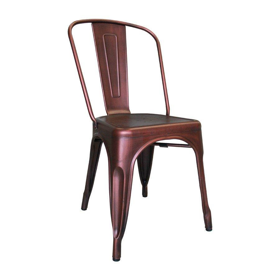 M-74522 Odessa Metal Chair - Brushed Red Copper
