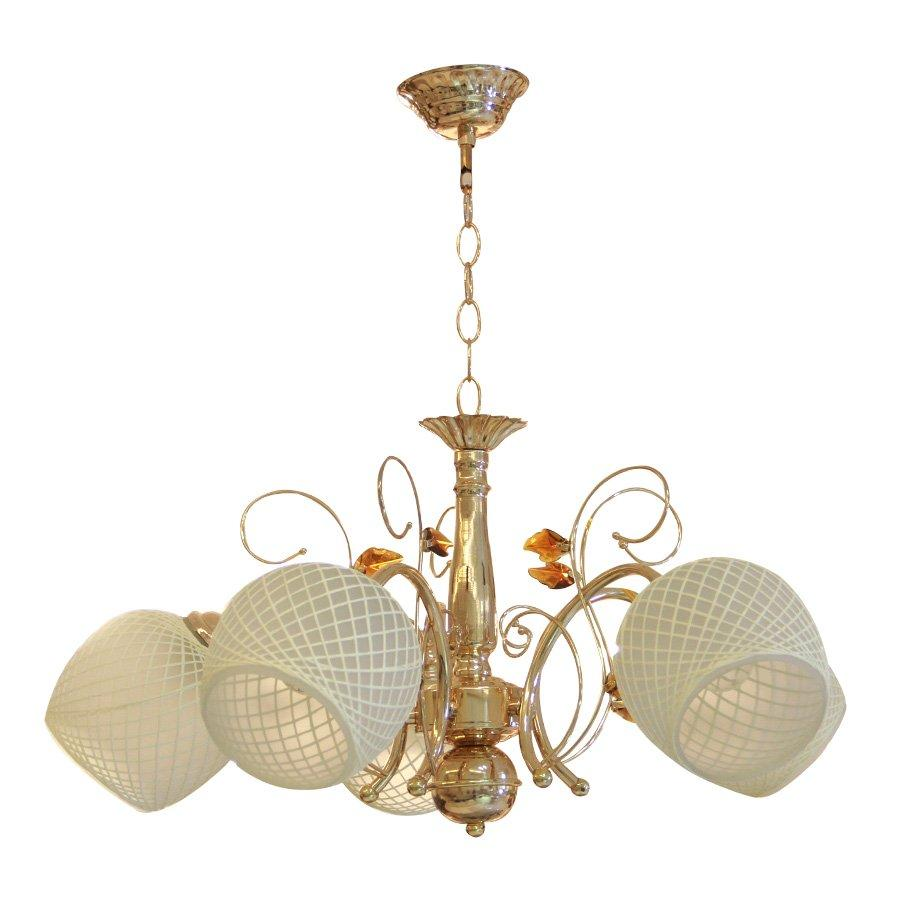 75290/5 Glass Ceiling Mounted Chandelier