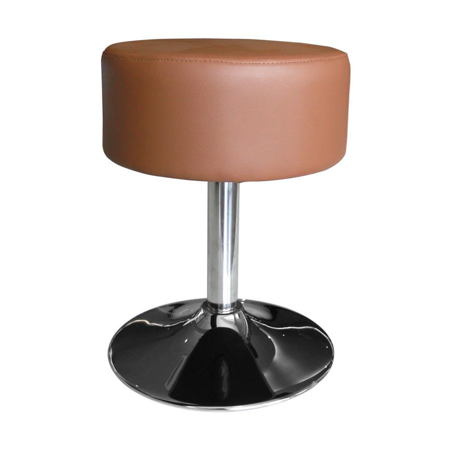 B852 Brown Swivel Ottoman